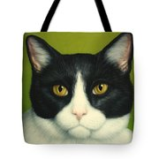 A Serious Cat Tote Bag by James W Johnson