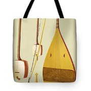 A Shamisen, A Kokyu And A Biwa Tote Bag