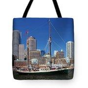 A Ship In Boston Harbor Tote Bag