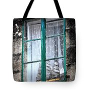 A Ship In The Green Window Tote Bag