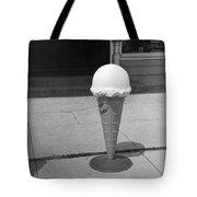 A Sidewalk Ice Cream Cone Tote Bag