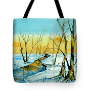 A Sign Of Winter Tote Bag