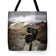 A Signed Trail Junction On The Way Tote Bag