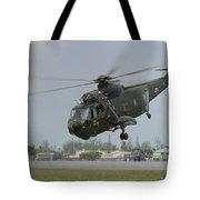 A Sikorsky S-61a4 Helicopter Tote Bag