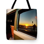 A Silhouette Of A Man Holding A Paddle Tote Bag