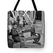 A Simpler Way Of Life Reading A Book Tote Bag