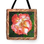 A Single Rose The Dancing Swirl  Tote Bag