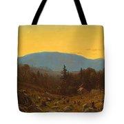 A Sketch Of Hunter Mountain. Catskills. Twilight On Hunter Mountain Tote Bag