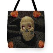 A Skull In The Dark Pop Art Tote Bag