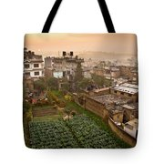 A Skyline View Of Roof Tops Tote Bag