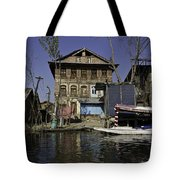 A Slightly More Run Down Section Of The Dal Lake Tote Bag