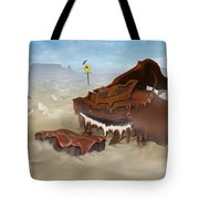 A Slow Death In Piano Valley - Panoramic Tote Bag