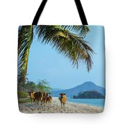 A Small Herd Of Cows Tote Bag