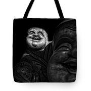 A Smile On The Shoulder - Bw Tote Bag