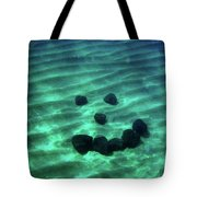 A Smiley Face Formed By Large Boulders Tote Bag