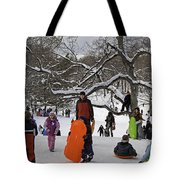 A Snow Day In The Park Tote Bag