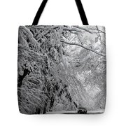 A Snowy Drive Through Chestnut Ridge Park Tote Bag