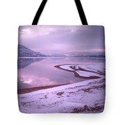 A Snowy Shore Tote Bag