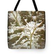 A Snowy Tree Tote Bag