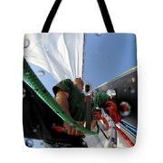 A Spanish Racing Yacht Trains Tote Bag