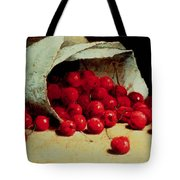 A Spilled Bag Of Cherries Tote Bag