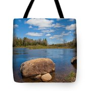 A Spring Day Under The Green Bridge Tote Bag