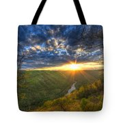 A Spring Sunset On Beauty Mountain In West Virginia. Tote Bag