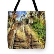 A Stairway In Montmartre Tote Bag