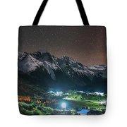 A Starry Night In Laigu Village, Tibet Tote Bag