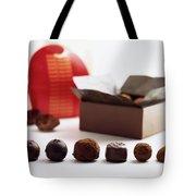 A Still Life Photo Of Gourmet Chocolates Tote Bag