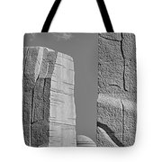 A Stone Of Hope Bw Tote Bag by Susan Candelario