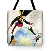 A Stoppage To A Stride Over The Globe, 1803 Litho Tote Bag