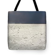 A Storm Approaching The Salt Pan Tote Bag