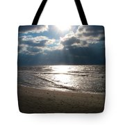 A Storm Is Brewing Over The Gulf Coast Tote Bag