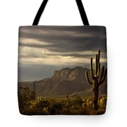 A Stormy Evening In The Superstitions  Tote Bag
