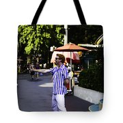 A Street Entertainer In The Hollywood Section Of The Universal Studios Tote Bag