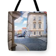A Street In Prague Tote Bag