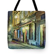 A Street With The Local Inn Tote Bag