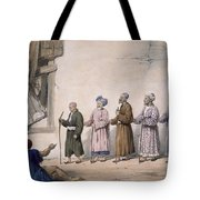A String Of Blind Beggars, Cabul, 1843 Tote Bag