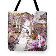 A Stroll In Autumn Tote Bag by Loredana Messina