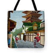 A Stroll In Old Kyoto Tote Bag