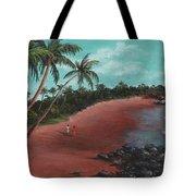 A Stroll On A Tropical Beach Tote Bag