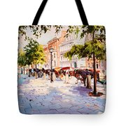 A Stroll On Stephens Green Tote Bag
