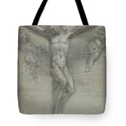 A Study Of Christ On The Cross With Two Tote Bag