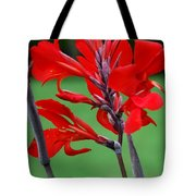 A Summer Red Flower Tote Bag