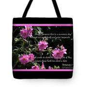 A Summer's Day Pink Romance Tote Bag