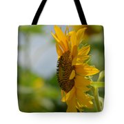A Sunflower Profile Tote Bag