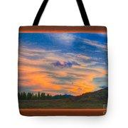 A Surprise Sunset Visit Landscape Painting Tote Bag
