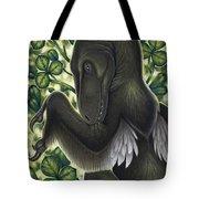 A Suspicious Deinonychus Antirrhopus Tote Bag