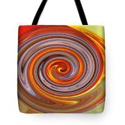 A Swirl Of Colors From The Sun And Earth Tote Bag